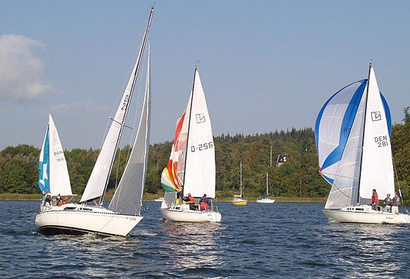 Stævnet er Grand-Prix for L23. foto: Silkeborg Sejlklub