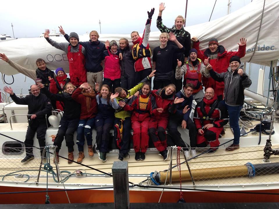"""""""Vi havde en KONGE-dag, langt udover det sædvanlige. Og vi fik afprøvet den 67 fods lange iskæmper Oceans of Hope"""" fortæller eleverne"""