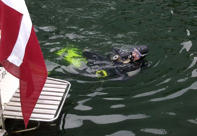 Lars Jensen var tidligere på året aktiv da han fandt en propel på bunden af Tuborg Havn.