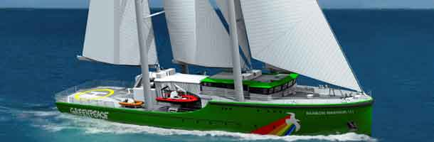 rainbow warrior, greenpeace, sejlskib