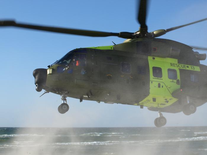 Helikopter fra SOK. Arkivfoto: Erik Venøbo