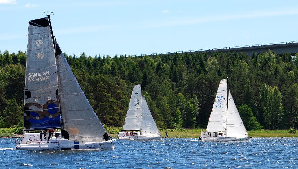 8 Seascape27'ere deltog i den svenske doublehanded-sejlads. Foto: Seascape