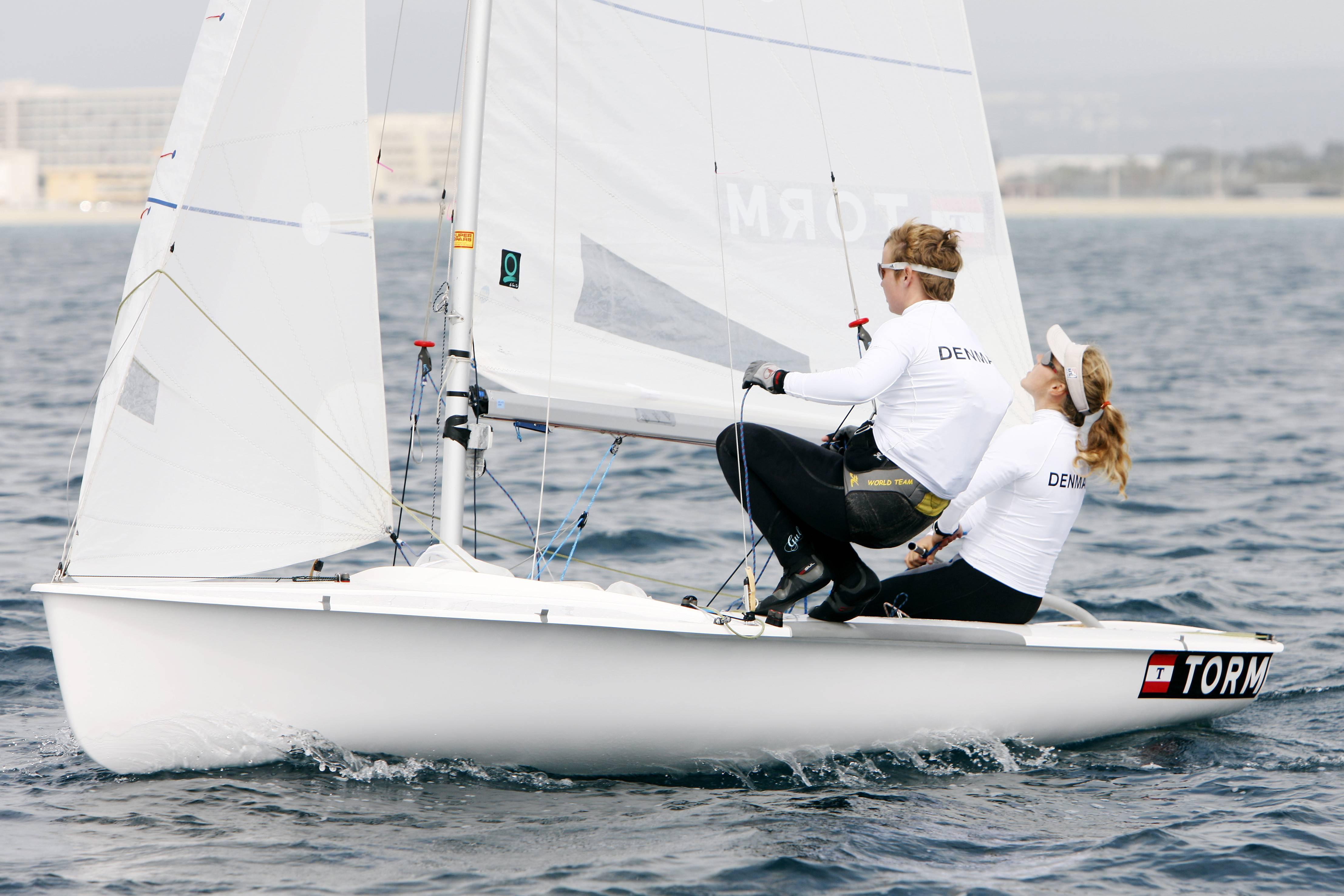 Henriette Koch og Lene Sommer var med fremme på Mallorca. Foto: Mick Anderson for Dansk Sejlunion
