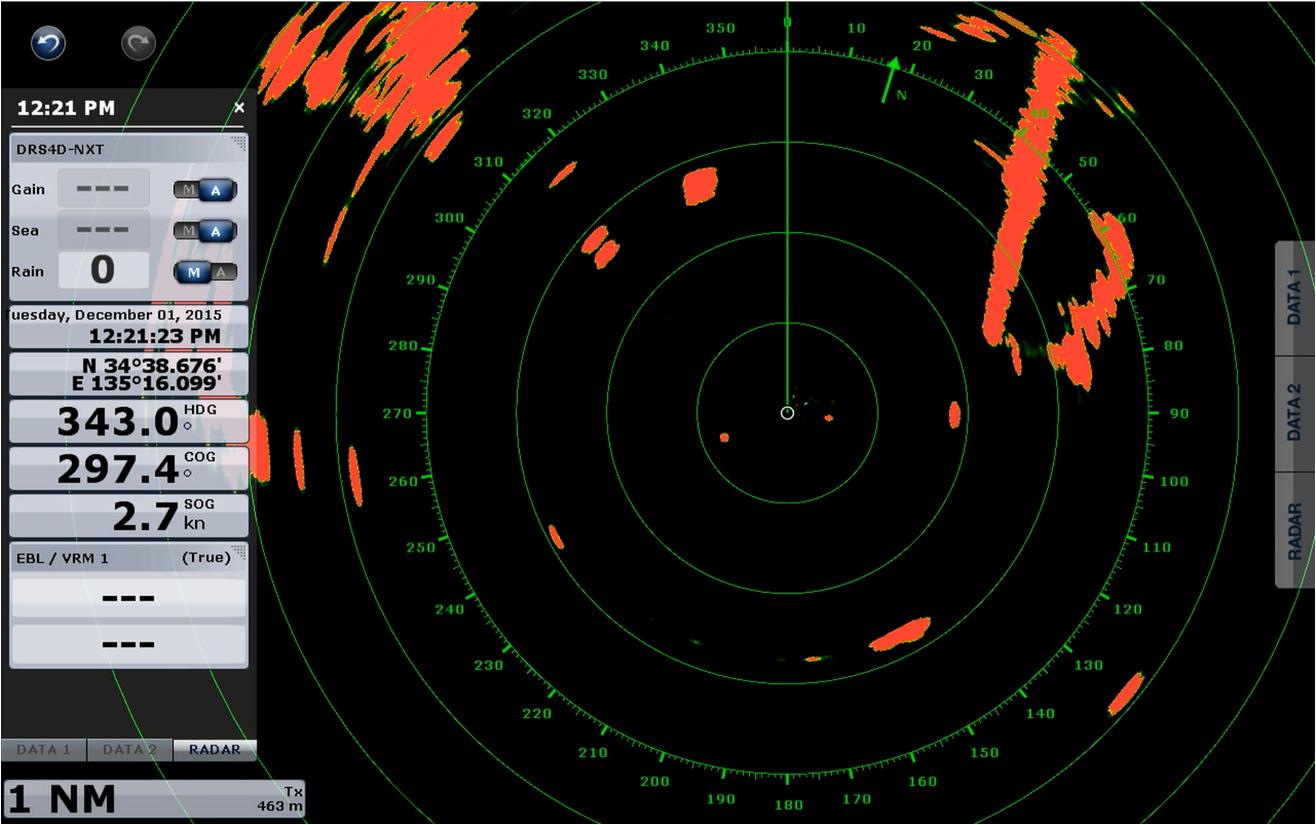Den nye Furuno radar DRS4D-NXT  har en del avancerede funktioner,  digital databehandling giver en meget høj opløsning i billedet.