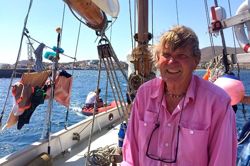 Troels Kløvedal holdt foredrag hos Dansk Marine Center i 2015 i Egå. I flere år led han af sygdommen ALS. Foto: Troels Lykke