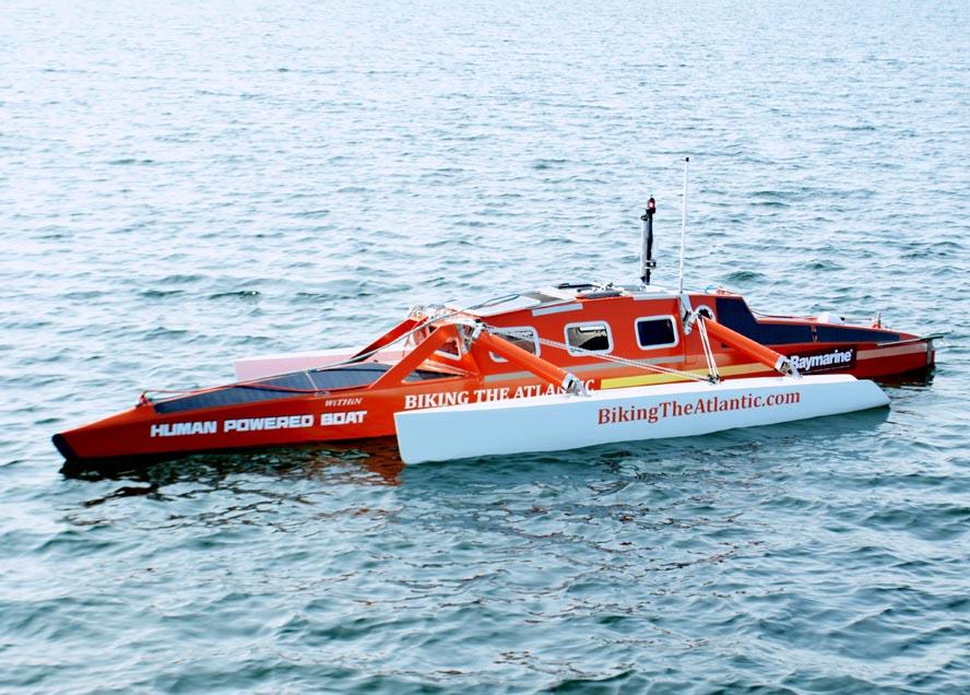 Mads Fabricius' vandcykel – som man kan opleve på Fredericia Boat Show – er lidt mere avanceret end dem, man lejer ved stranden om sommeren.