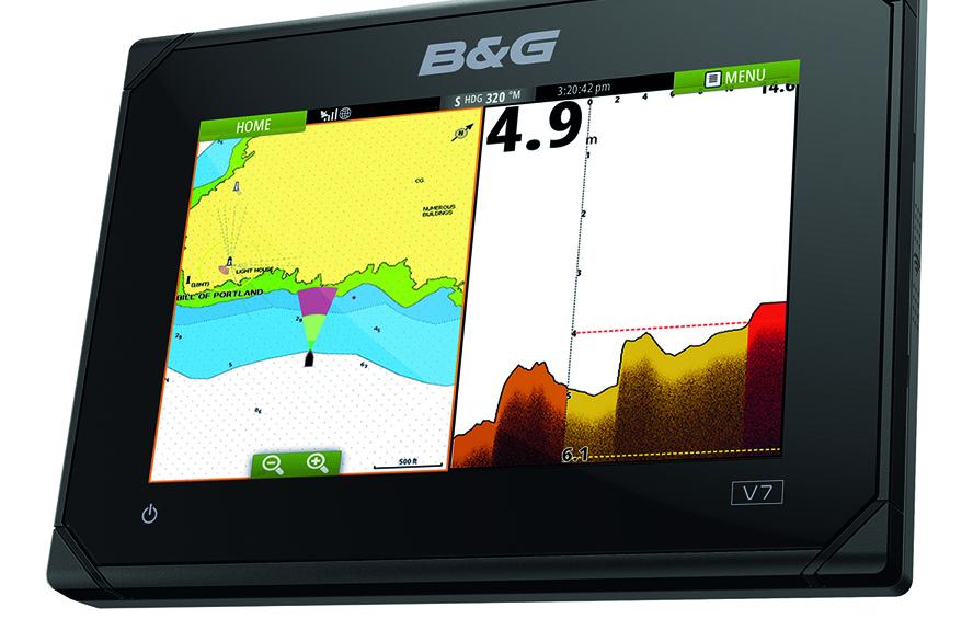 B&G ForwardScan har en effektiv rækkevidde på otte gange den faktiske dybde og en indbygget brugerkonfigurerbar dybdealarm. PR-foto