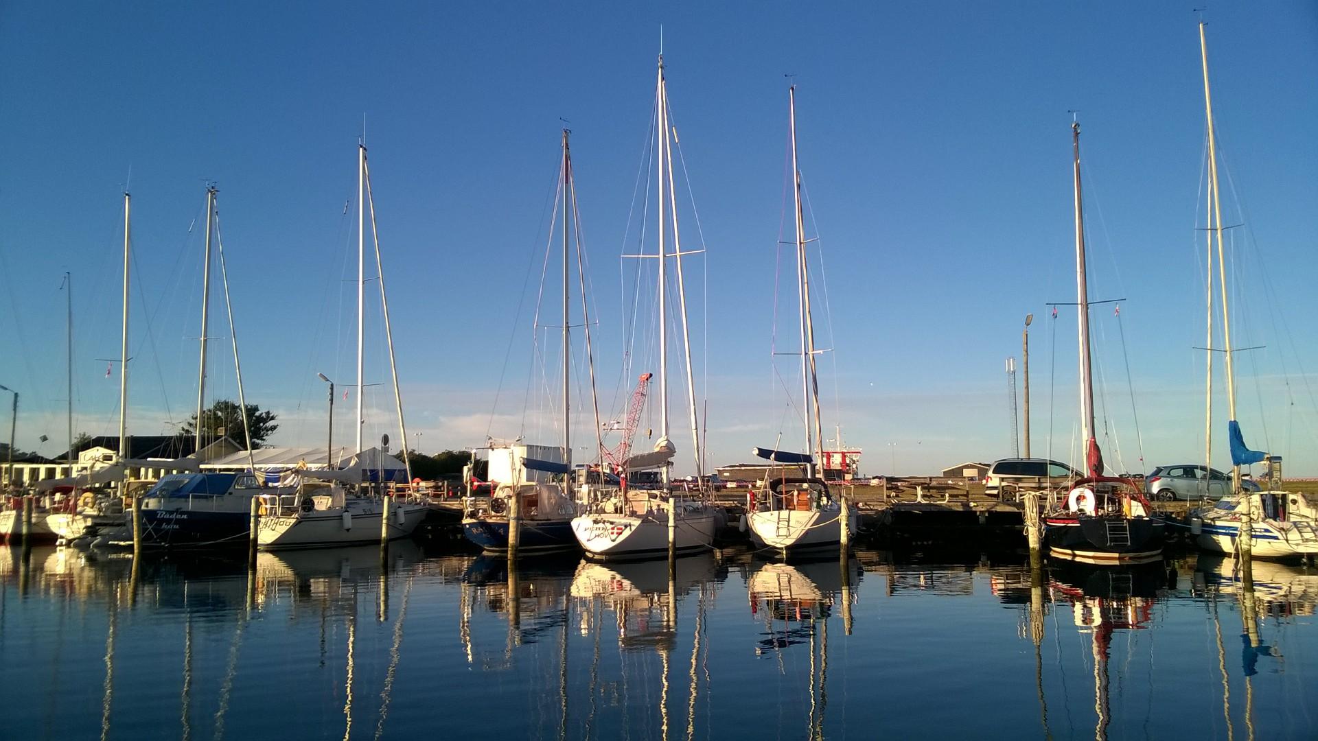Her ses Hou Lystbådehavn, der ligger syd for Aarhus. Foto: Troels Lykke