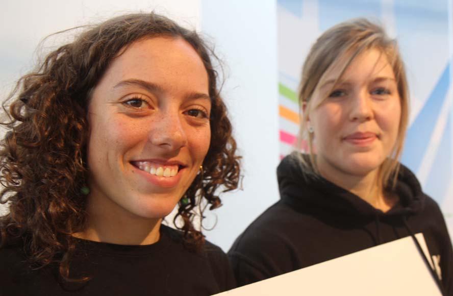 Årets Talenter Ida Marie Baad, tv., og Marie Thusgaard Olsen er i Murcia. Det er klubkammeraterne Lin Ea Cenholt Christiansem og Kaj Böc Foto: Troels Lykke