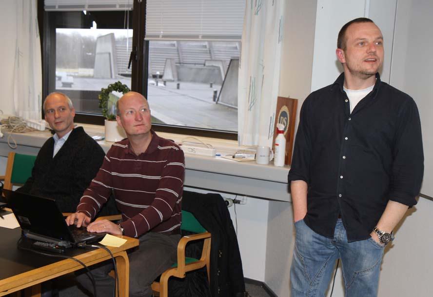 Kim Henriksen, Søren Hattel og Kasper Wedersøe Dansk Sejlunions Tekniske Udvalg. Søren Hattel sejler selv Luffe 37 og DH med en Concorde 38. Ingen andre i TU ønsker at fortælle til minbaad.dk hvad de sejler. Foto: Troels Lykke