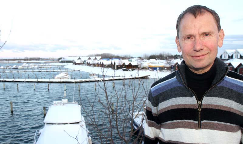 Ove Skovgaard-Mortensen i Hundige Havn ser frem til den Arcona 340, der er rigget op til IRC og DH med John Mast og mindre forsejl. Foto: Troels Lykke
