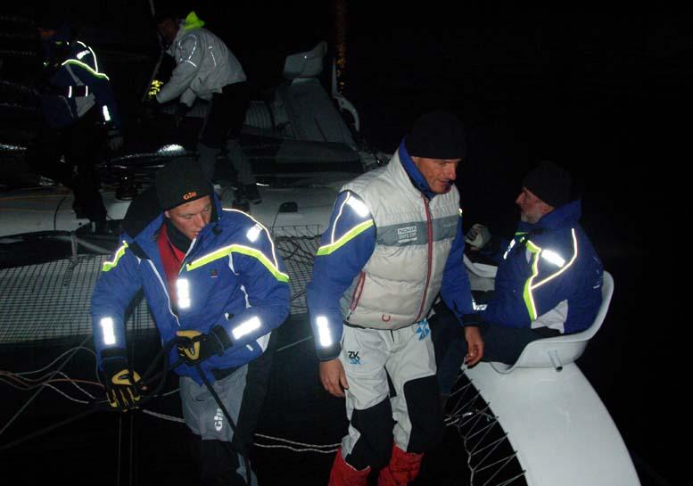 Eric Quorning ved roret i morges i Stubbekøbing på Carbon3. Foto: Troels Lykke
