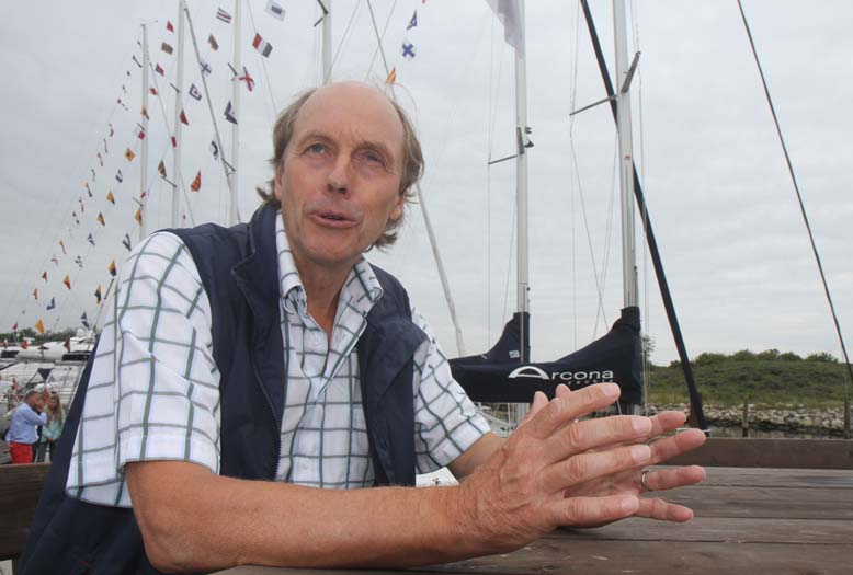 Stefan Qviberg har  designet de svenske Arona Yachts siden 1982. Foto: Troels Lykke