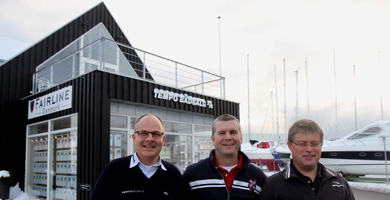 Koldt var det da Tempo Bådsalg blev fotograferet i denne uge. Fra venstre: Gert E. Sørensen, Stewart Moeliker-Twigg og Henrik Jørgensen. Foto: Troels Lykke