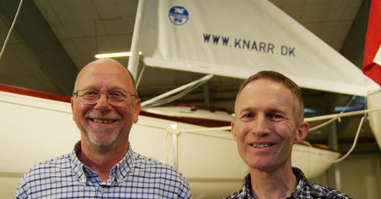 Hans Venberg, tv., og Hans Natorp lige efter vælgermøde. Foto: Troels Lykke