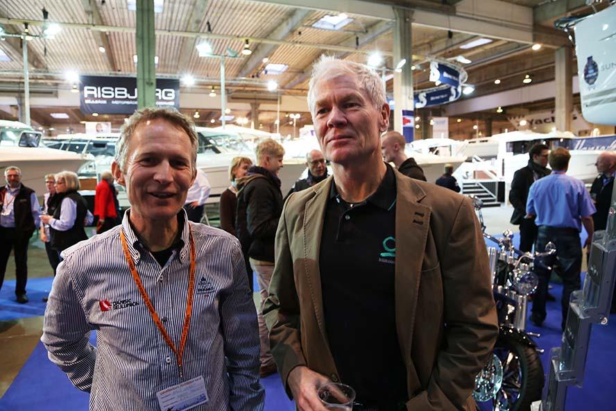 Formand Hans Natorp fra DS og formand Jan Hansen fra Danboat.