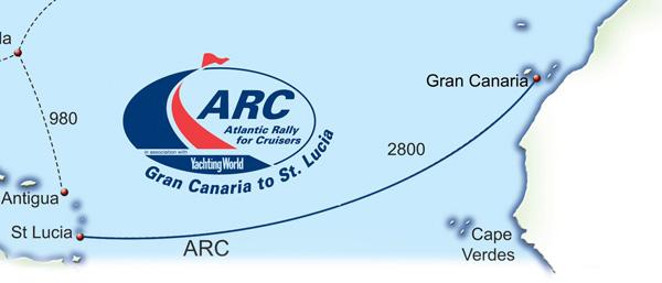 Team Xpense sejler fra Las Palmas på Gran Canaria. Målet er Rodney Bay, St.Lucia i Carribien.
