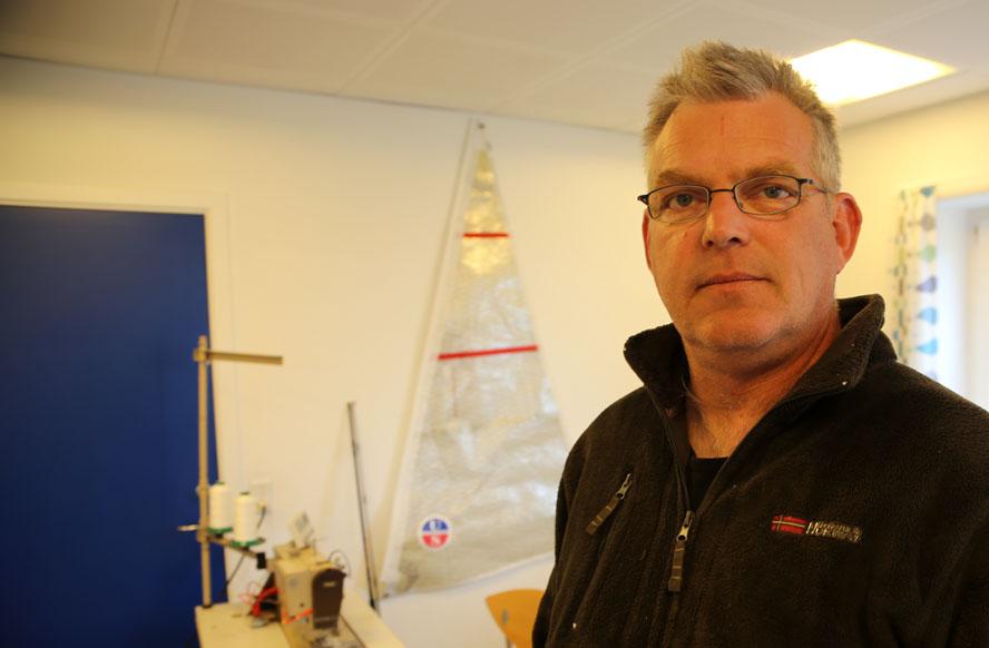 Lars Bo Poulsen har været sejlmager siden 1977. Siden 2006 har han drevet Ullman Sails i Aarhus. Foto: Troels Lykke