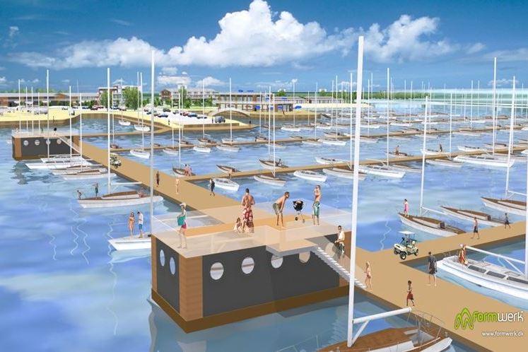 Admiral Marina i Nyborg bliver Nordeuropas største med op til 2800 bådpladser.