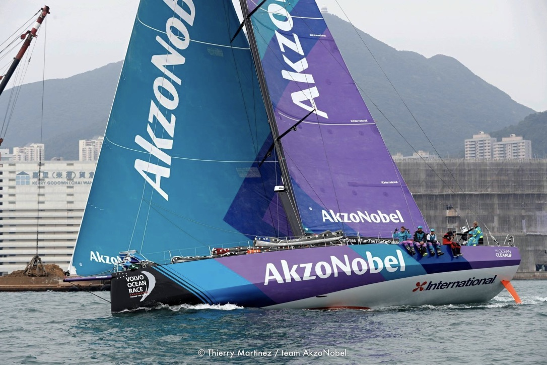 AkzoNobel blev toer i det seneste In-Port Race i Auckland. Foto: Thierry Martinez / Volvo Ocean Race