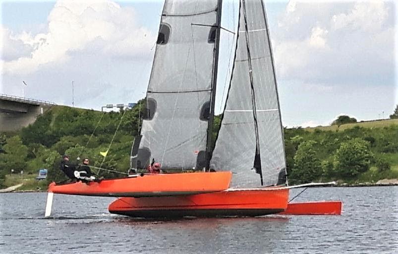 Jens Quorning kom først i Als Rundt. Båden har har nu fået c-foils. Foto: Flemming Clausen