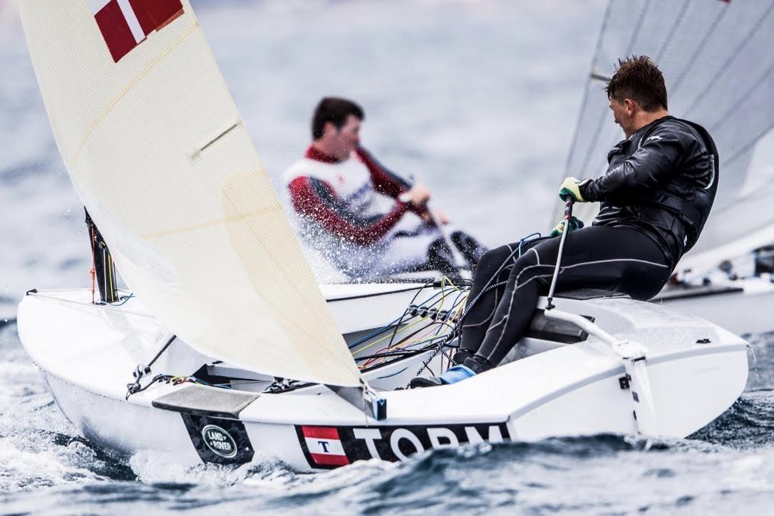 24-årige André Højen kæmpede for gode placeringer i Frankrig. Foto: Sailing Energy