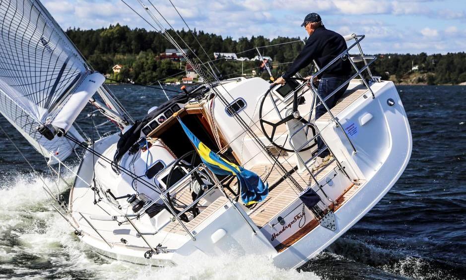 Arcona 380 er en af de bedst sælgende og mest velsejlende Arcona-både, der er blevet bygget hos Arcona Yachts, lyder det fra den danske importør. Foto: Troels Lykke