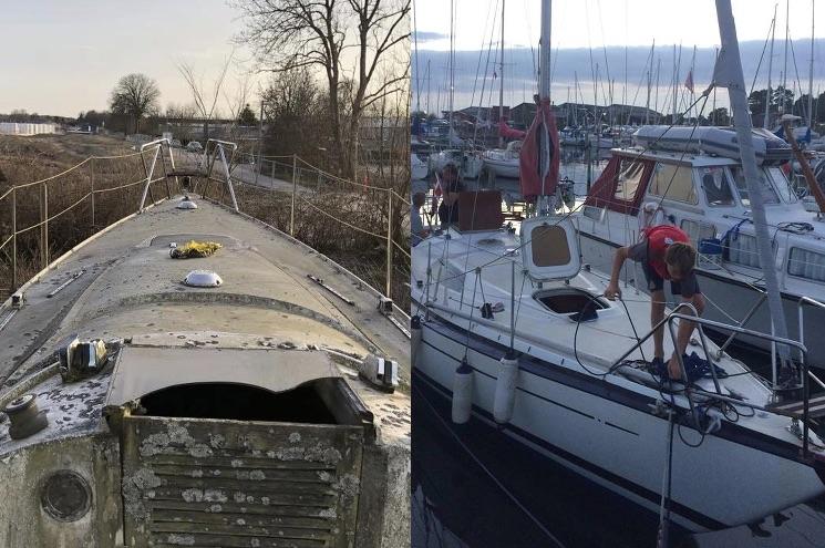 Efter fire måneders hårdt arbejde kan Per Hansen og familien nyde sejlerlivet på Øresund. Foto: Per Hansen