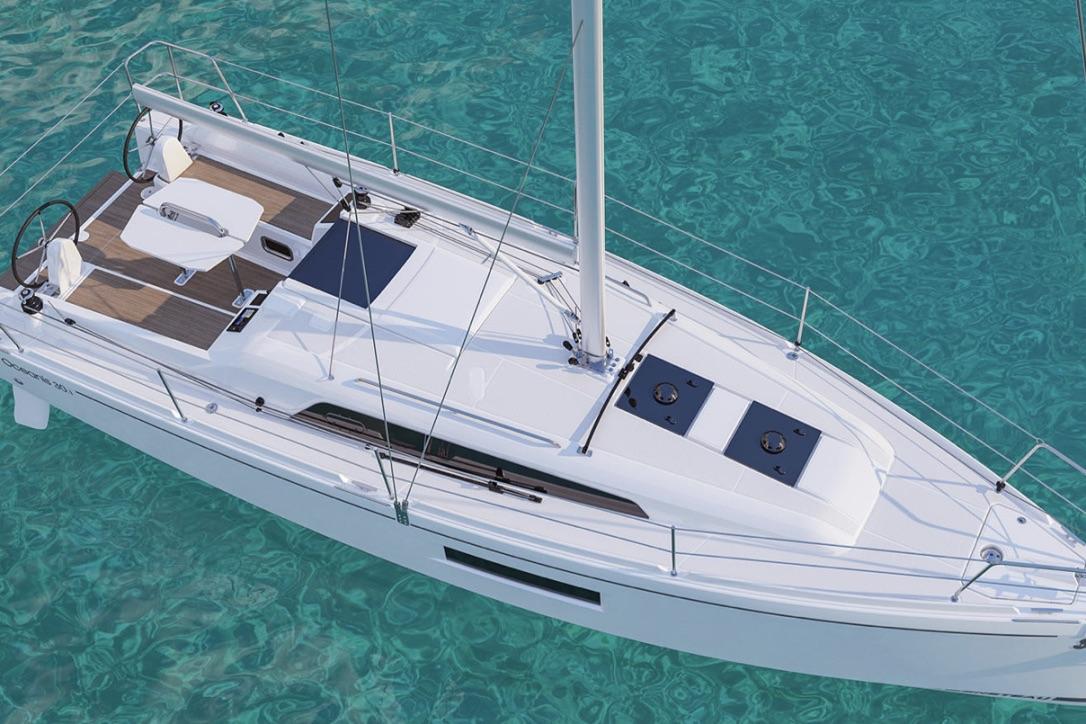 Båden er designet til sejlads i 5-8 sekundmeter. Foto: Beneteau