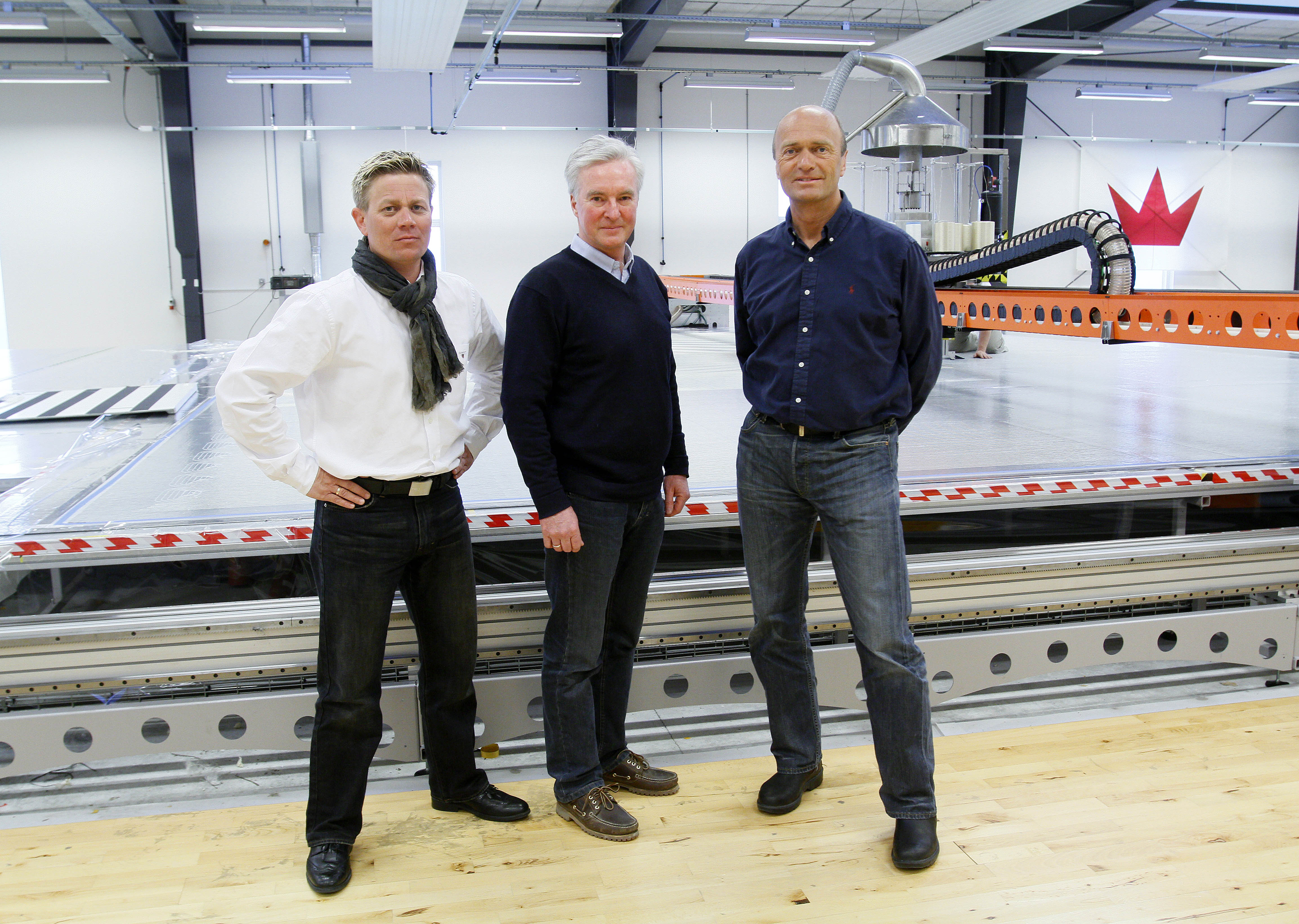 Fra venstre: Espen Kamperhaug, Claus Landmark og Jesper Bank. Foto: Mick Anderson/Sailingpix