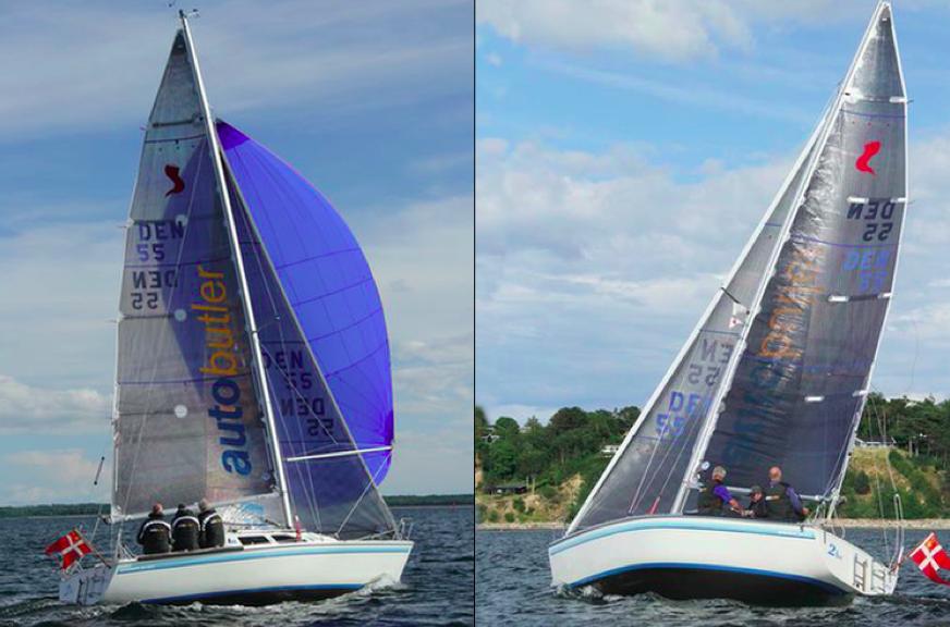 Med flere flotte og nyere sejl, herunder 3D sejl fra North Sails, er denne Banner 30 klar til kapsejladser landet over. Foto: Privatfoto