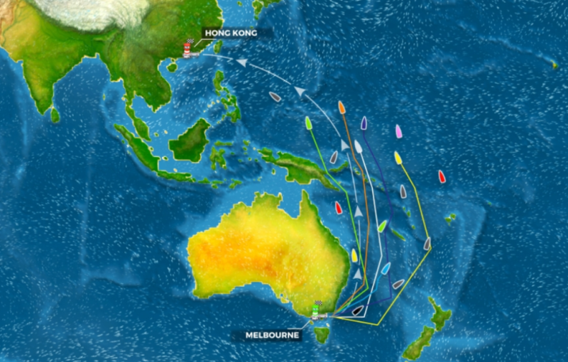 Ruten fra Melbourne til Hong Kong er ny i Volvo Ocean Race, og holdene samt de virtuelle spiller skal navigere gennem forskellige klimazoner.
