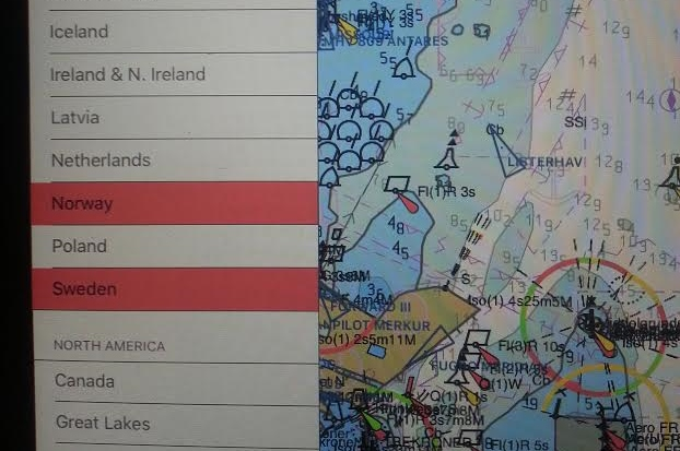 Seapilot-programmet advarer om, hvilke søkort der er udløbet og skal genkøbes (hvis man skal derhen). Foto: Bøje Larsen