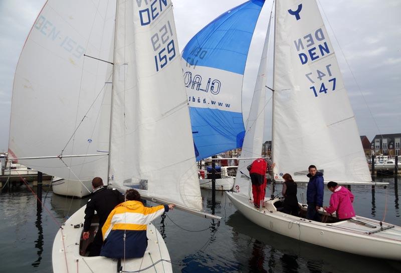 Spilerne kom op ned en del gange i havnen i Bønnerup. Foto: Bønnerup Strand Sejlklub