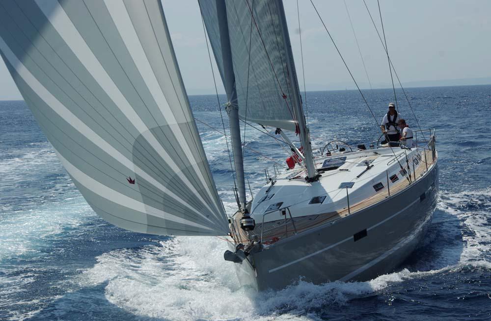 En del bådtyper vises frem i Egå de næste dage. Her ses den nye Bavaria 50. Foto: Troels Lykke