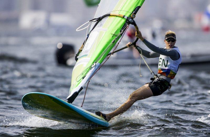 24-årige Lærke Buhl-Hansen fra Aarhus Sejlklub er lige nu på en 18. plads ved OL i Rio. Foto: World Sailing