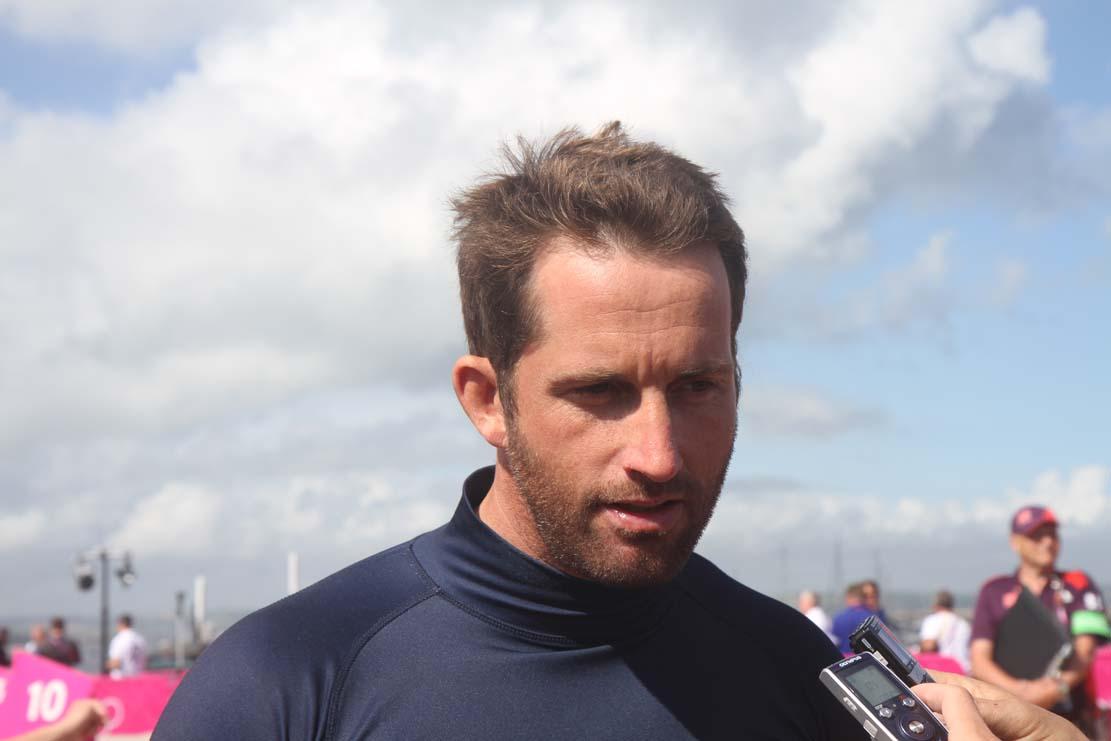 Ben Ainslie var presset totalt i bund før medal race ved OL i Weymouth, men netop under pres, er den britiske sejler bedst. Foto: Troels Lykke