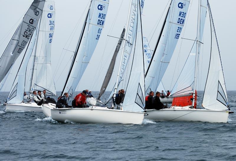 15 både deltog i DM i Gilleleje. Foto: cb66.dk
