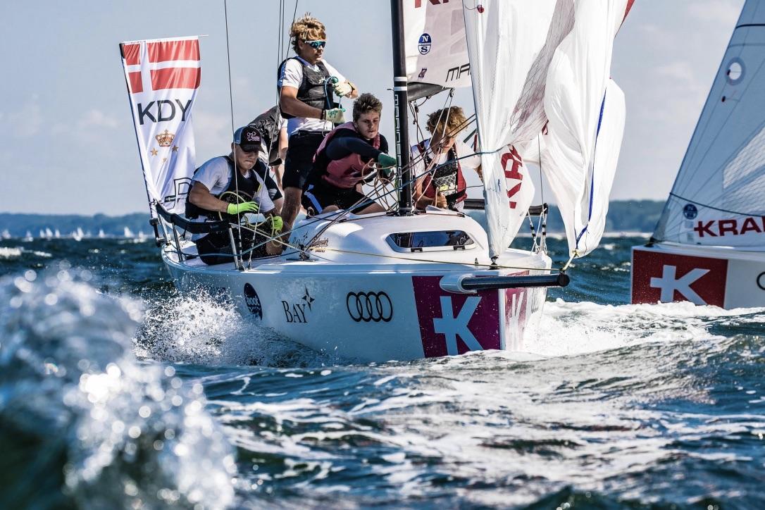 KDY-holdet blev bedste danske team til Youth Sailing Championship. Foto: Youth Sailing Championship