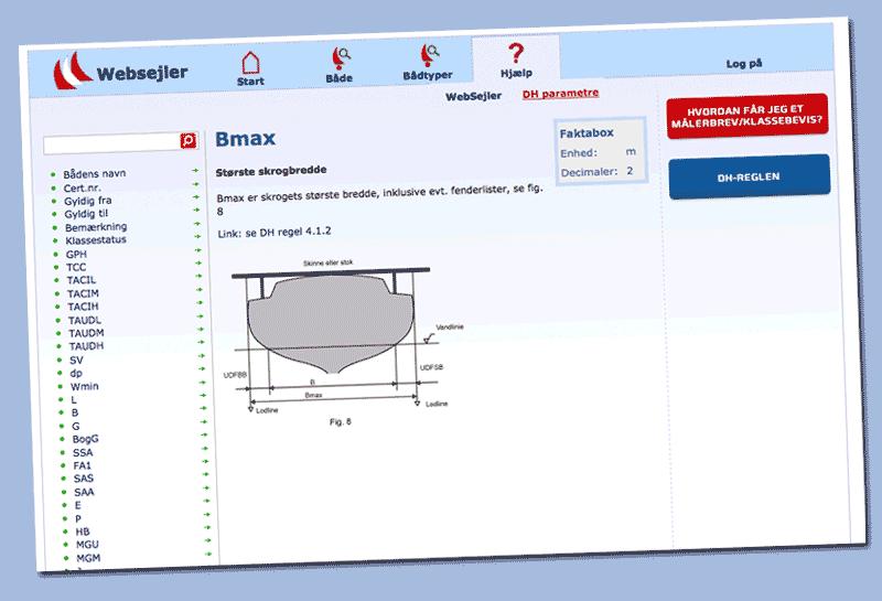 Bmax måles nu i det spant, hvor skrogbredden uden evt. fenderlister er størst.