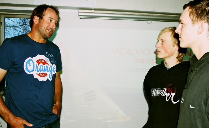 Jens Dolmer er et kæmpe forbillede for unge sejlere. Her ses han på Oure i tirsdags. Foto: Martin Fruergaard
