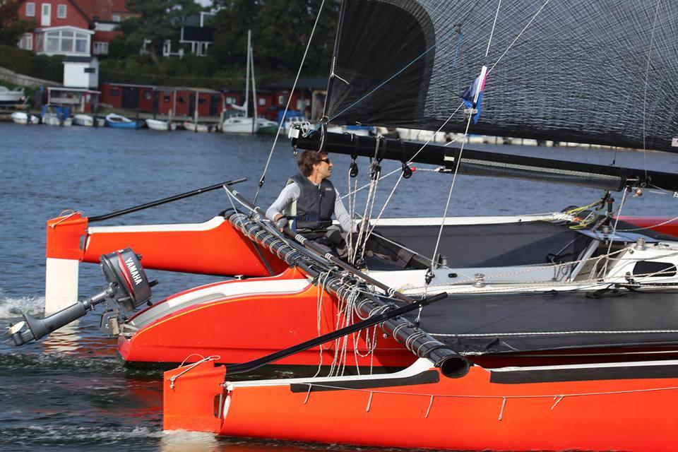 Jens Quorning i Dragonfirer ses her i starten fredag klokken 11.30 i Svendborg. Foto: Troels Lykke