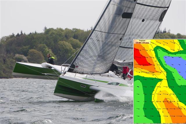 En noget broget vejrudsigt har fået Watski2star til at vælge en lidt sikrere rute. Foto: Watski2star/frv.dk