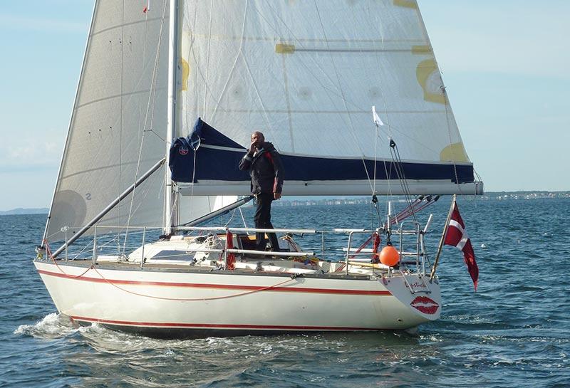 Erik Venøbo sejler også solo-sejlads i år i sin 34 fods båd, designet af Lars Olsen. Både Silverrudder og Sjælland Rundt skal sejles. Foto: Katrine Bertelsen