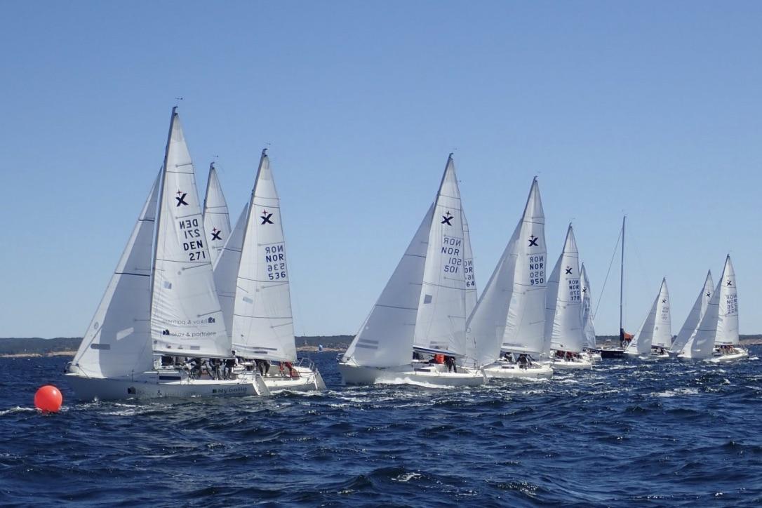 Danske DEN 271 havde i den grad fundet farten ved det nordiske mesterskab. Foto: Torben Precht