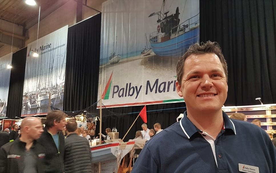 Peter Helleskov fra Palby Marine melder om mere salg i forhold til 2015 på Boat Show i Fredericia. Foto: Troels Lykke