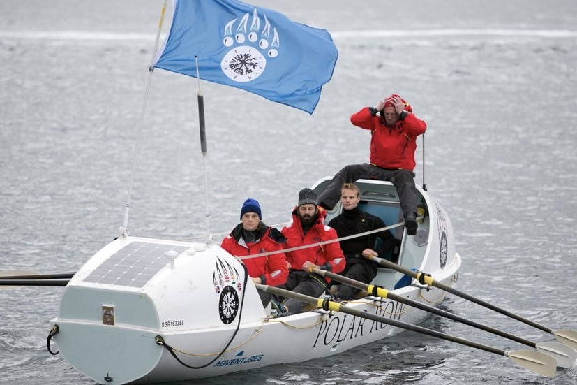Toptrimmede atleter var med til at ro båden rekord hurtigt over Ishavet. Foto: Polar Row