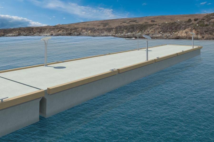 En 3 x 15 m bro koster kr. 59.995 ex. moms, og det er iflg. Peter Poulsen mindst 50 % under de billigste betonflydebroer fra udlandet