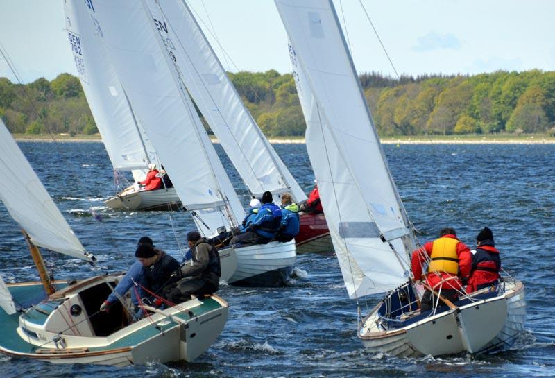 Folkebådene fik syv sejladser svær luft i Jægerspris. Foto: Hans Friis
