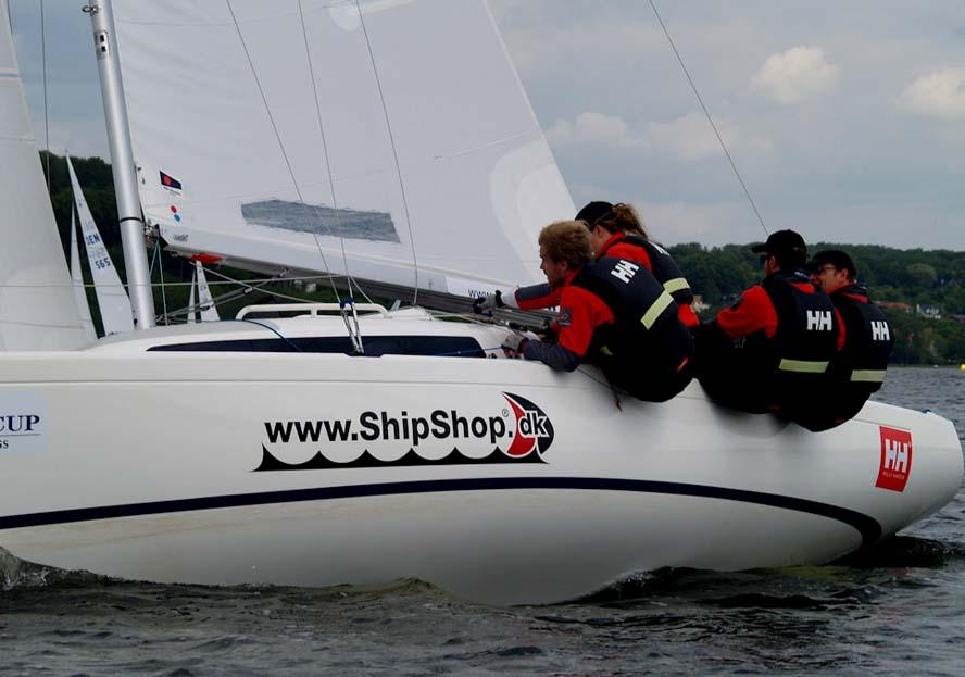 Anders Bertelsen og co. var bedst på Silkeborg Søerne i H-båd. Foto: Jens Hjort